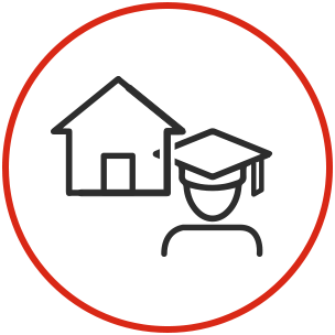 Circle icons - student housing