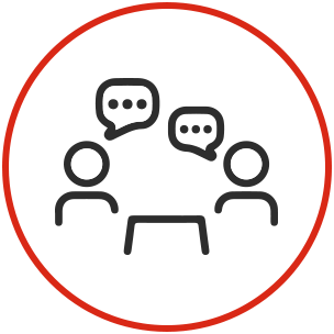 Circle icons - conference